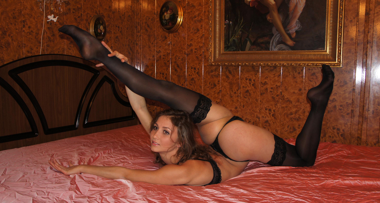 Гимнастки порно стриптиз в чулках