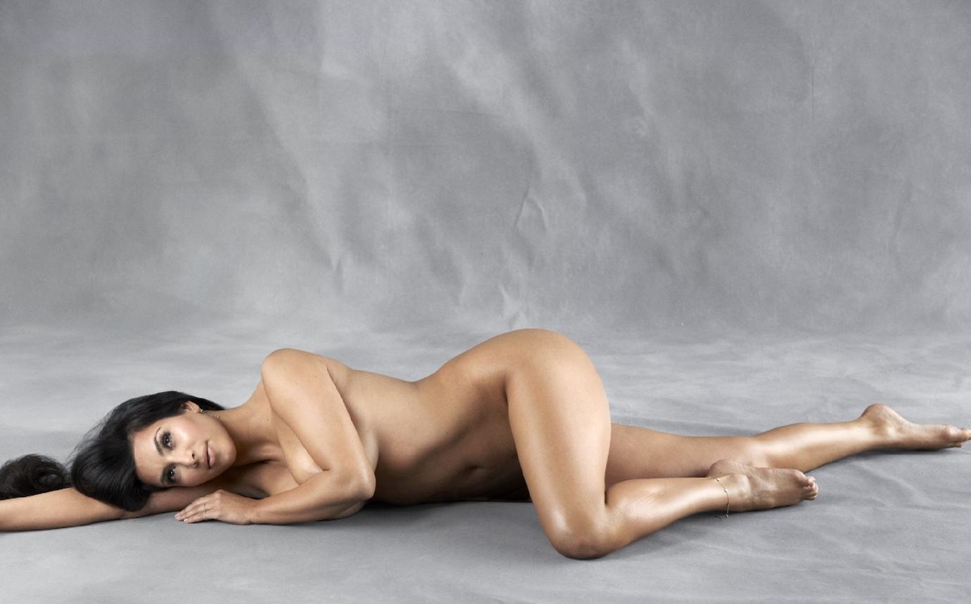Kim Kardashian Nude Body Paint Set Leaked Iskstp