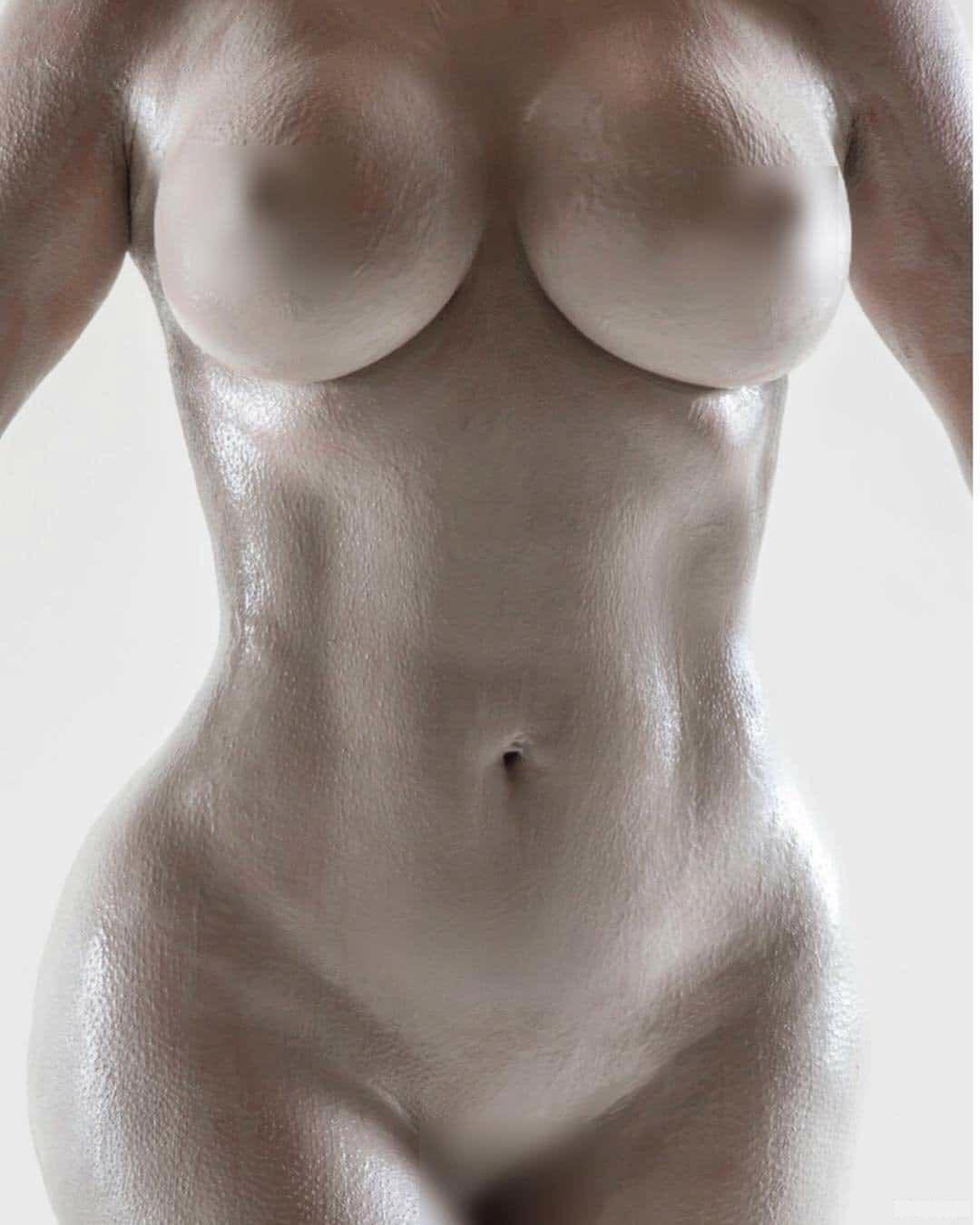 Kim Kardashian Nude Body Paint Set Leaked Wlwdhb
