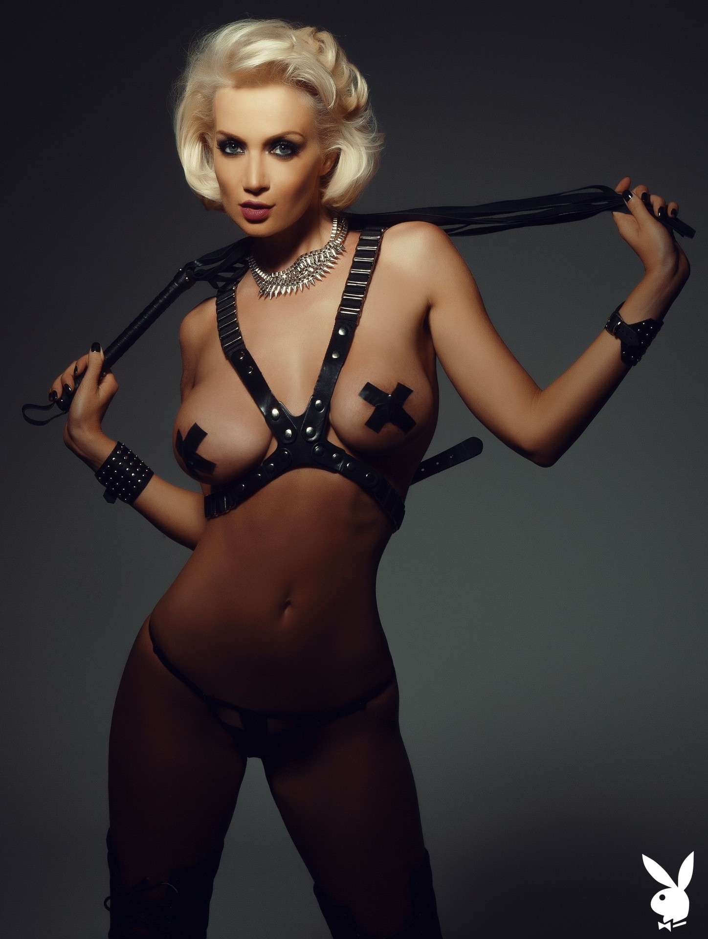 Bondage, Harness, Nipple Pasties, Thong, Black Thong, Bdsm, Whip, Black Whip, Fetish