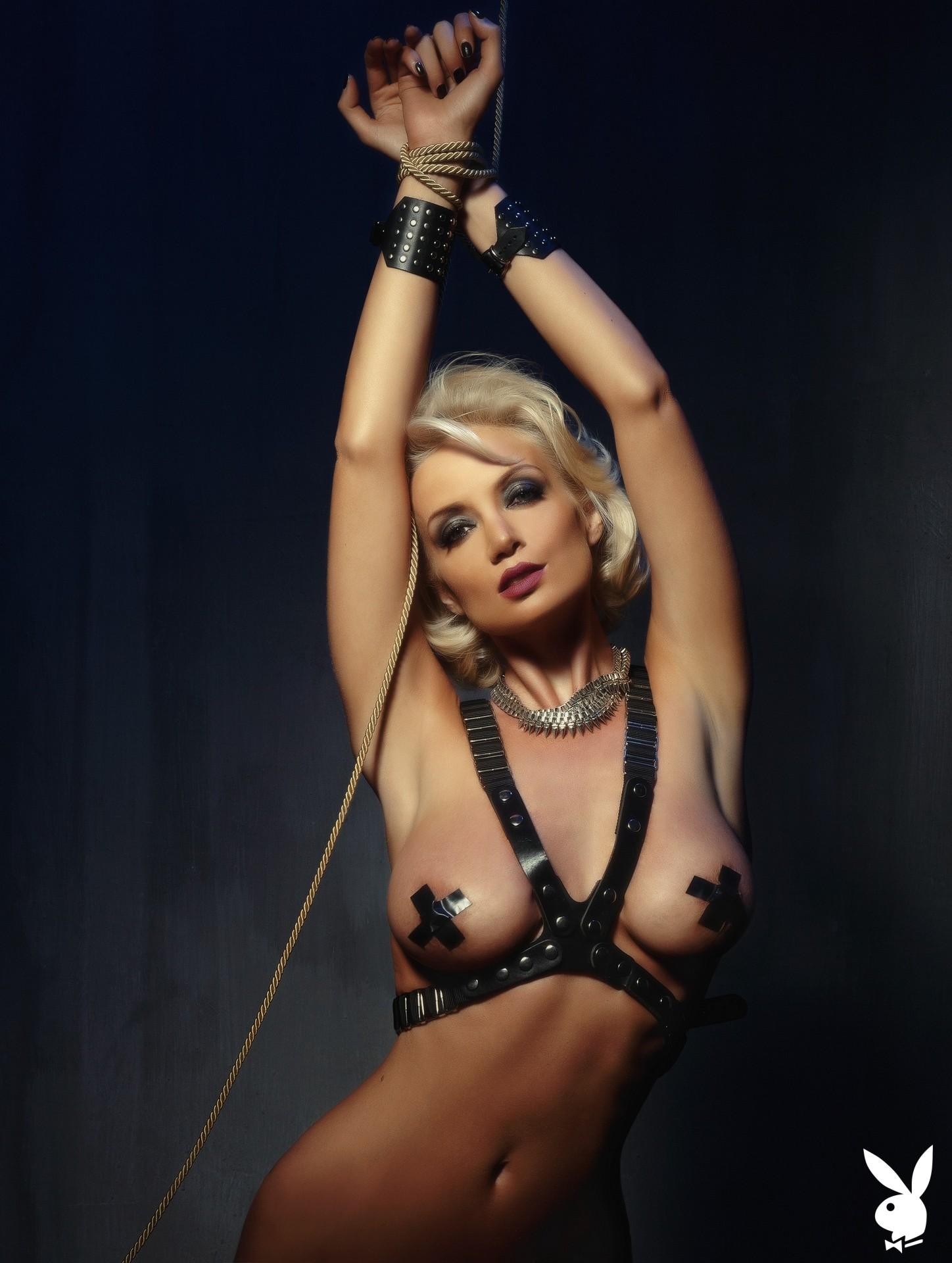 Bondage, Harness, Body Harness, Black Body Harness, Black Harness, Nipple Pasties, Thong, Black Thong, Bdsm, Handcuffs, Tied, Rope, Fetish